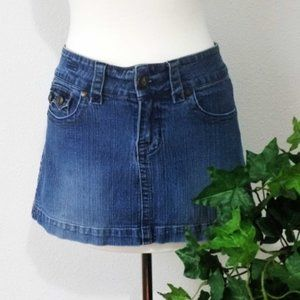 Hydraulic Denim 5 Pocket Mini Skirt Juniors 5/6